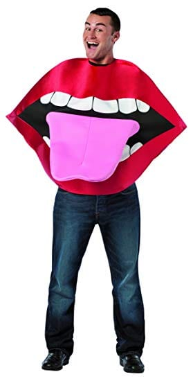 Lips & Tongue Adult Novelty Fancy Dress Costume