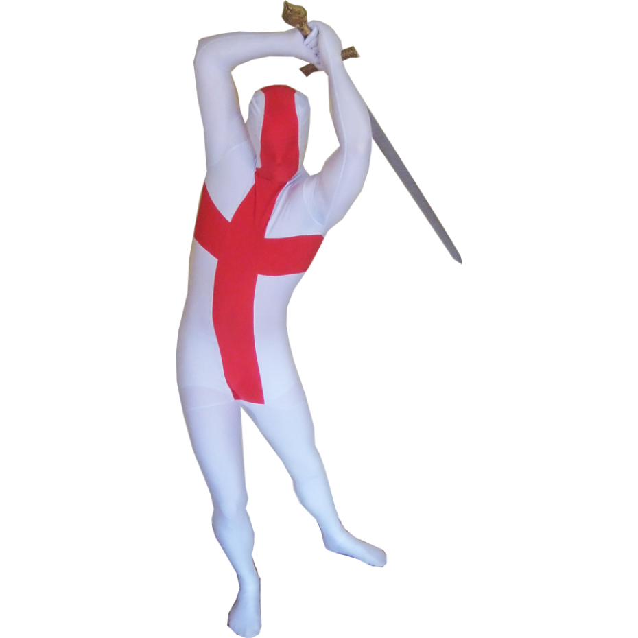 England Flag Morphsuit Men's Fancy Dress Costume