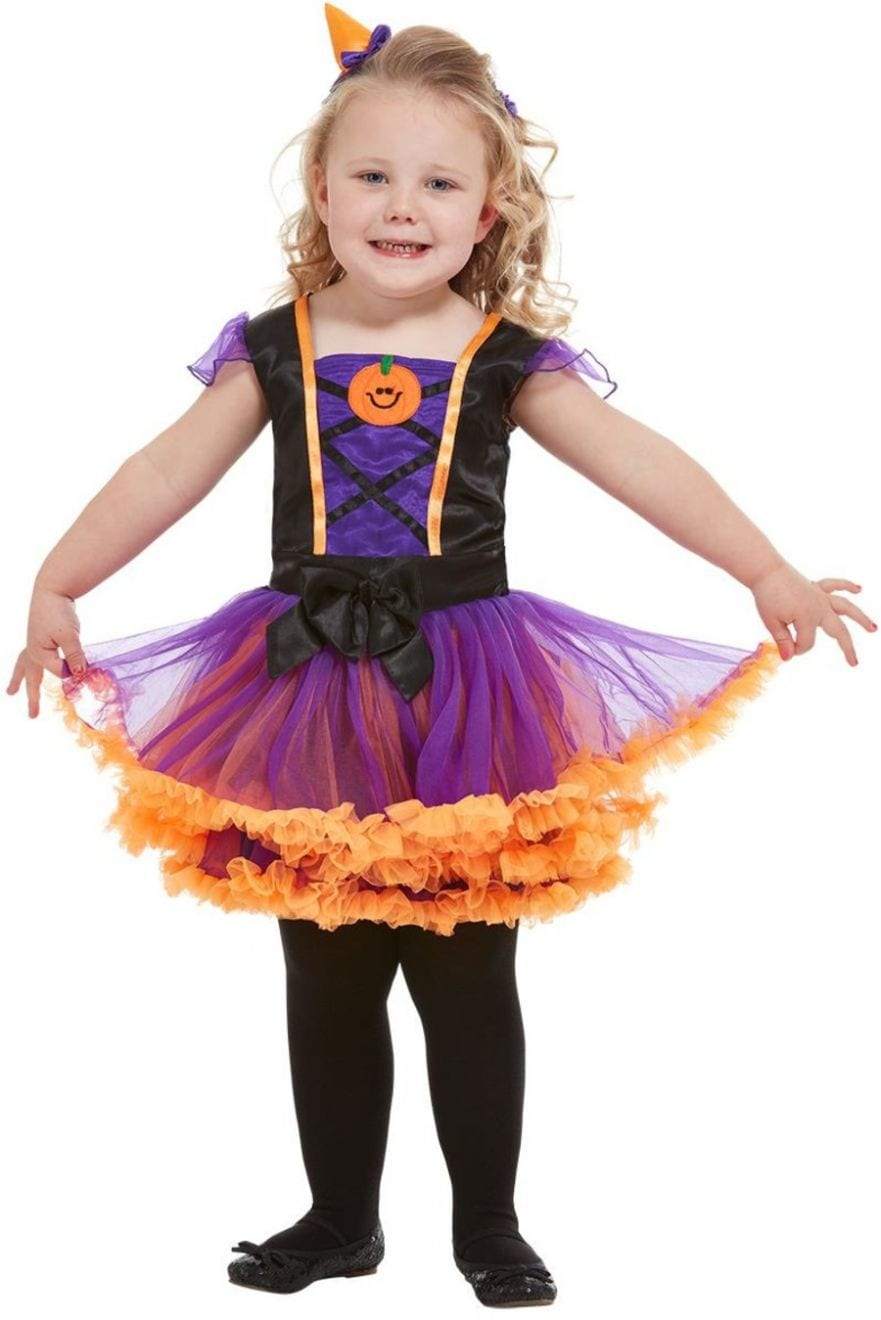 Toddler Pumpkin Witch Children's Halloween Fancy Dress Costume