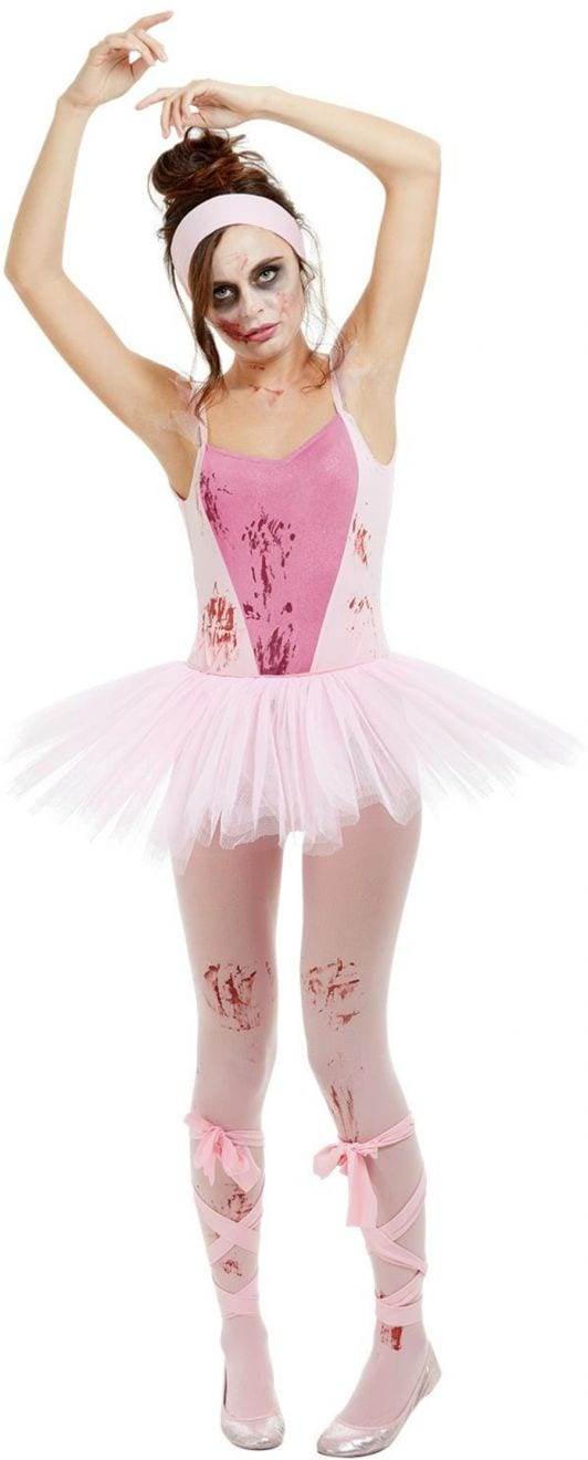 Zombie Ballerina Ladies Halloween Fancy Dress Costume