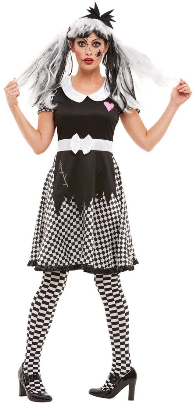 Broken Doll Ladies Halloween Fancy Dress Costume