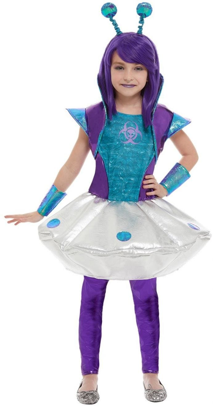 Alien Girl Children's Halloween Fancy Dress Costume