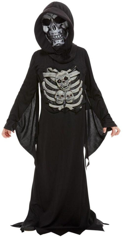 Skeleton Reaper Children's Halloween Fancy Dress Costume