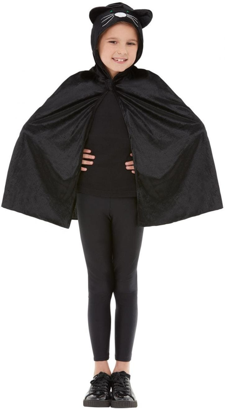 Black Cat Hooded Cape