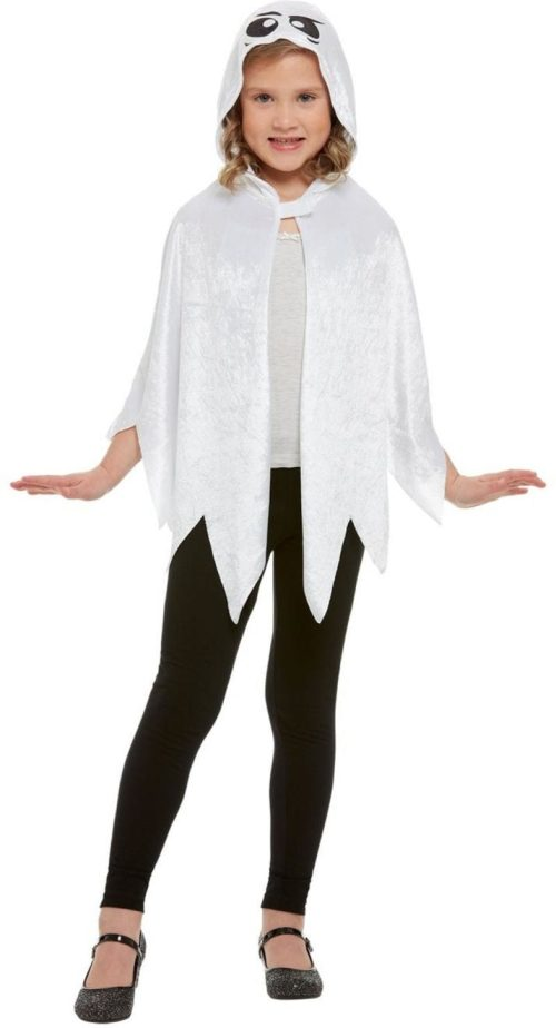 Ghost White Hooded Cape