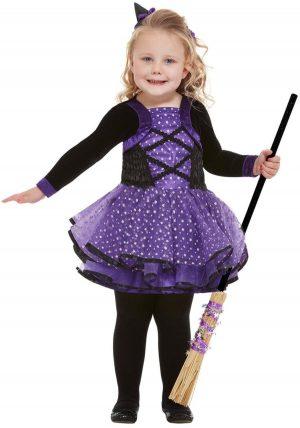Toddler Pretty Star Witch Children's Halloween Fancy Dress Costume