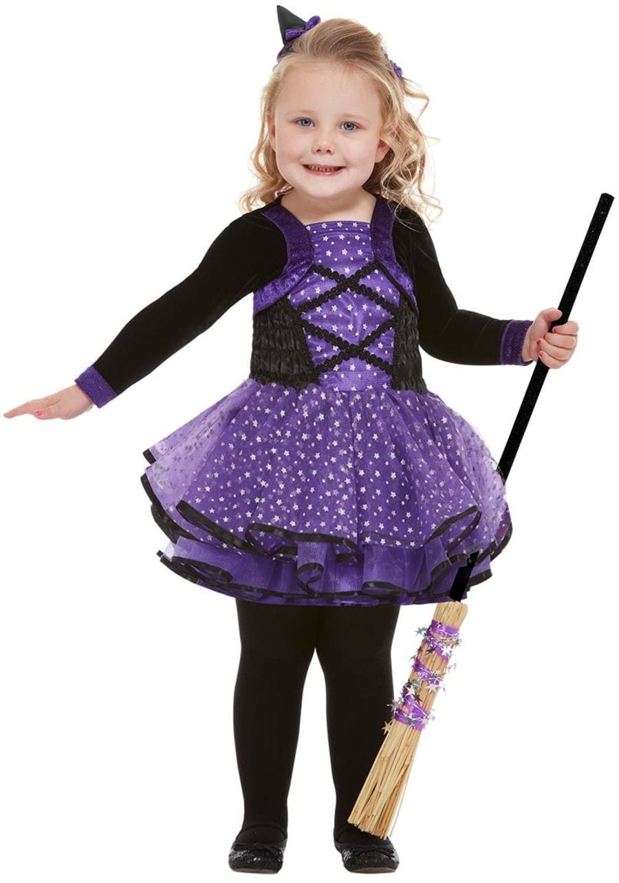 Toddler Pretty Star Witch Children's Halloween Fancy Dress Costume