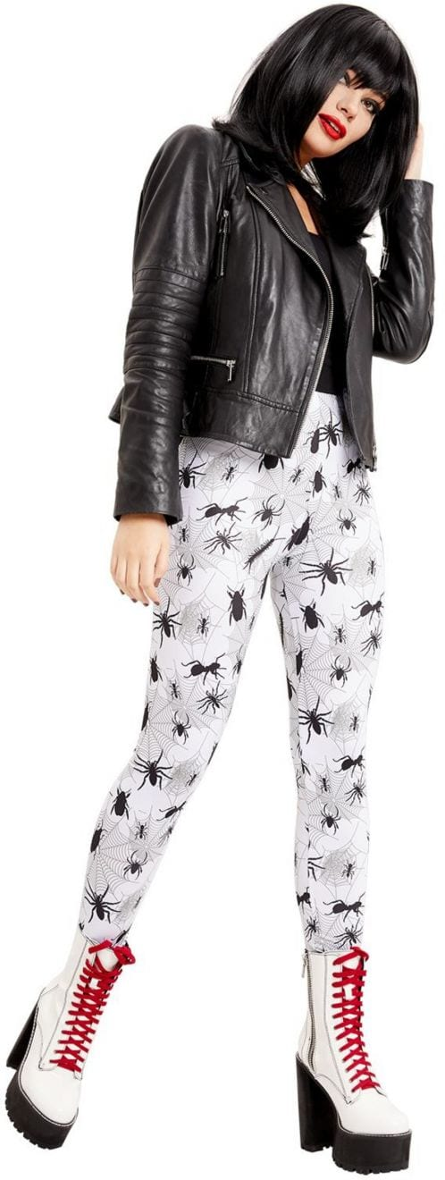 Bug Print Leggings, White