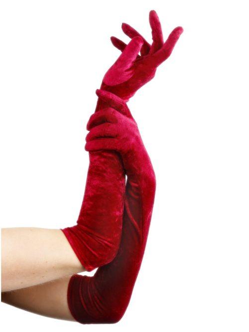 Red Velveteen Gloves