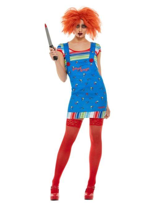 'Child's Play 2 & 3' Chucky Lady Ladies Fancy Dress Costume