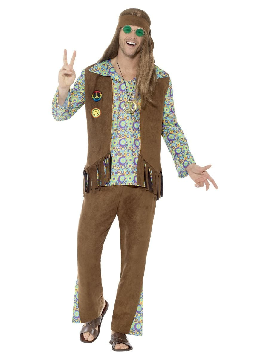 60s Hippie Men's Fancy Dress Costume