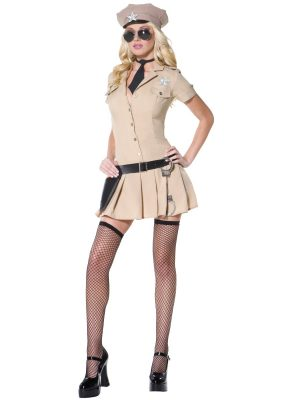 Fever Sultry Sheriff Ladies Fancy Dress Costume