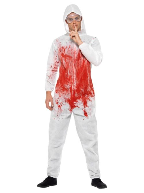 Bloody Forensic Overall Men's Fancy Dress Costume