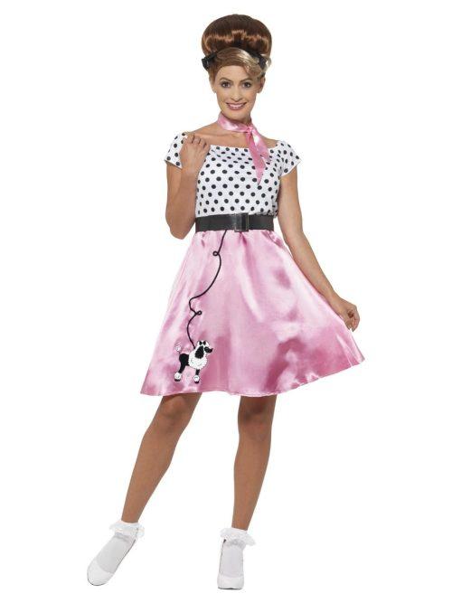 50'S Rock n Roll Dress Ladies Fancy Dress Costume