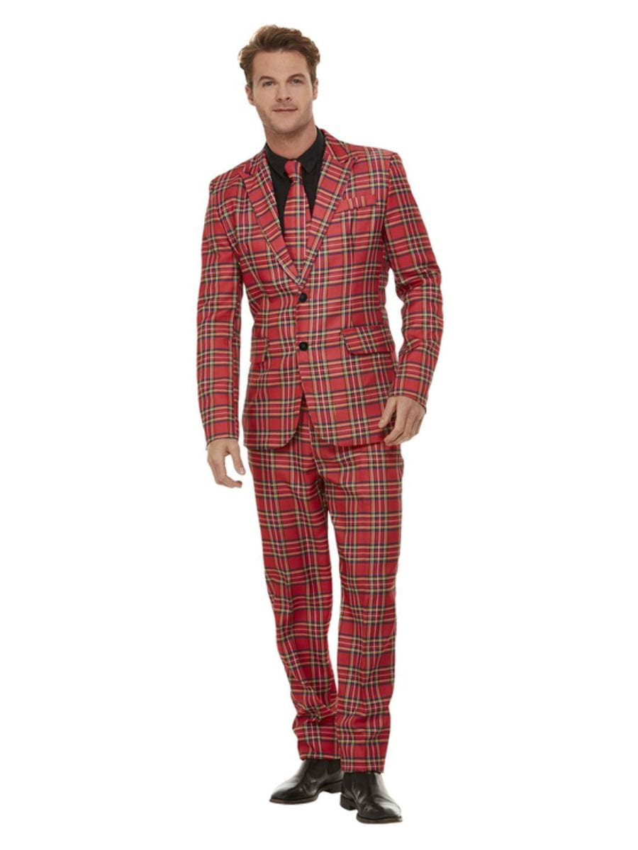 Tartan Suit Men's Fancy Dress Costume