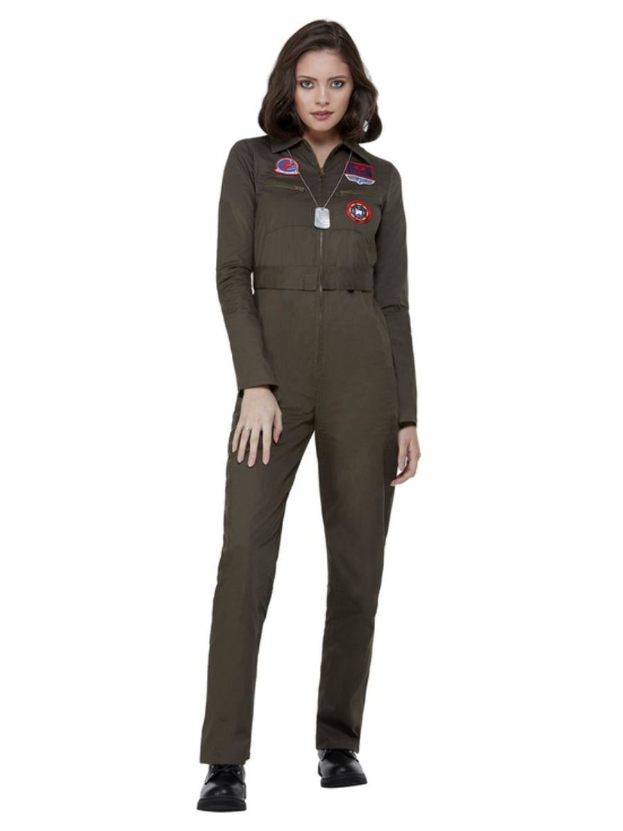 Top Gun Aviator Ladies Fancy Dress Costume