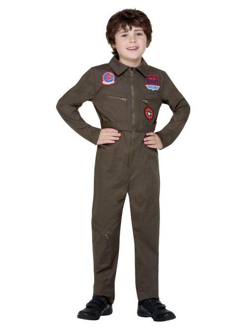 Top Gun Aviator Unisex Children's Fancy Dress Costume