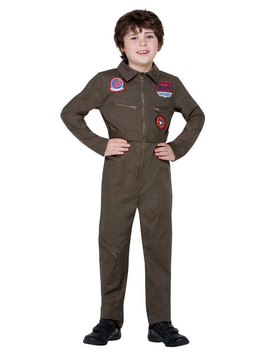 Top Gun Aviator Unisex Children's Fancy Dress Costume