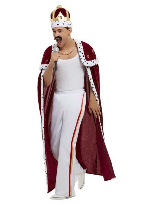 """Queen """"Freddie Mercury"""" Deluxe """"Royal"""" Men's Fancy Dress Costume"""