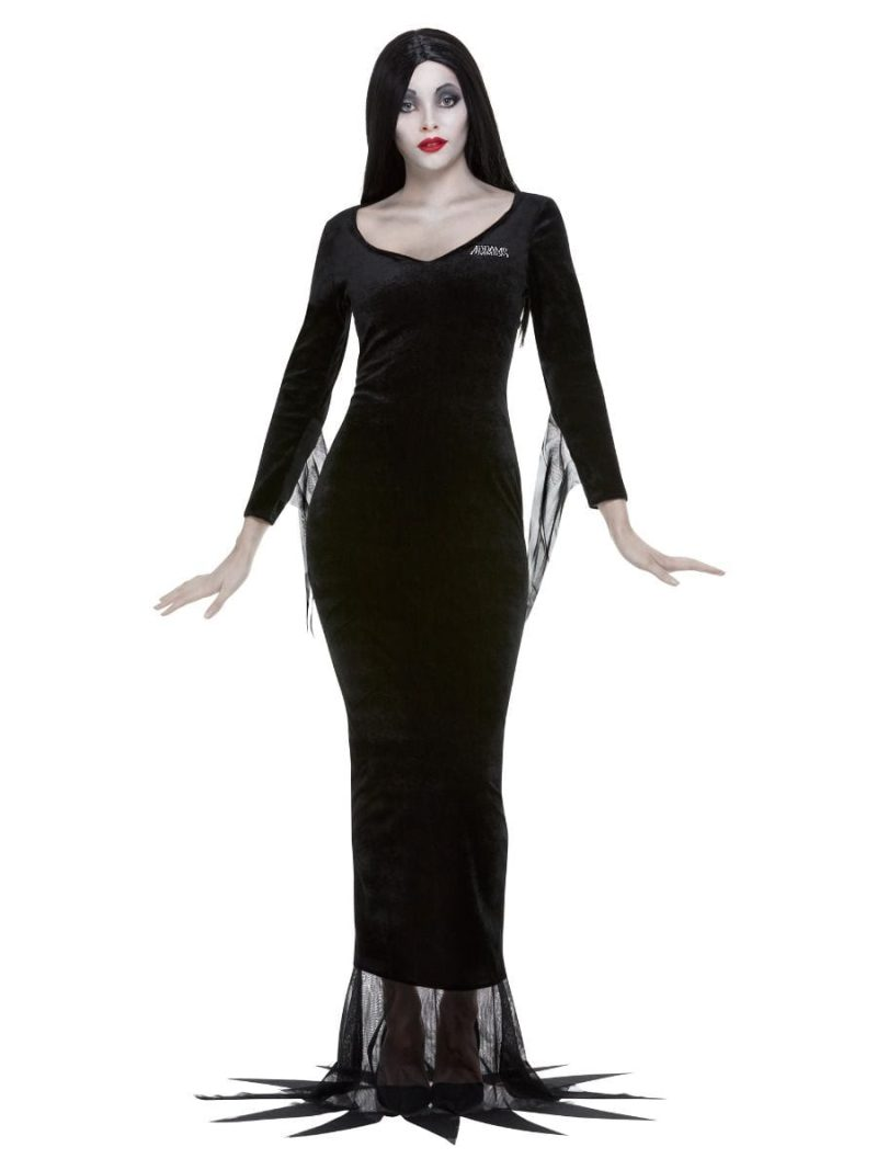 Addams Family Morticia Ladies Halloween Fancy Dress Costume