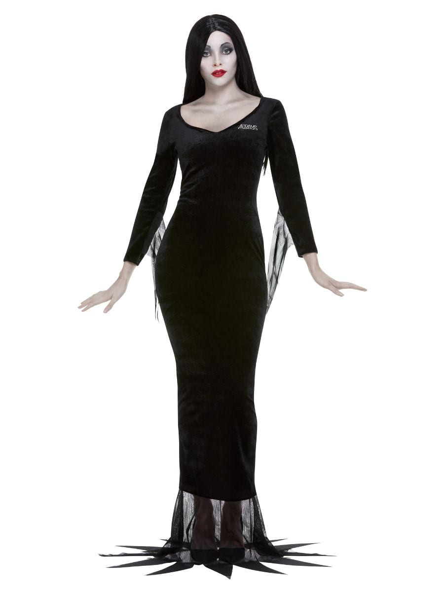 Addams Family Morticia Ladies Halloween Fancy Dress Costume