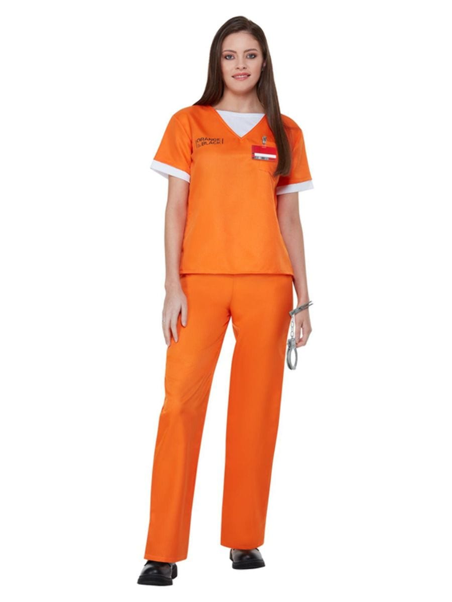 Orange is The New Black Prison Uniform Ladies Fancy Dress Costume