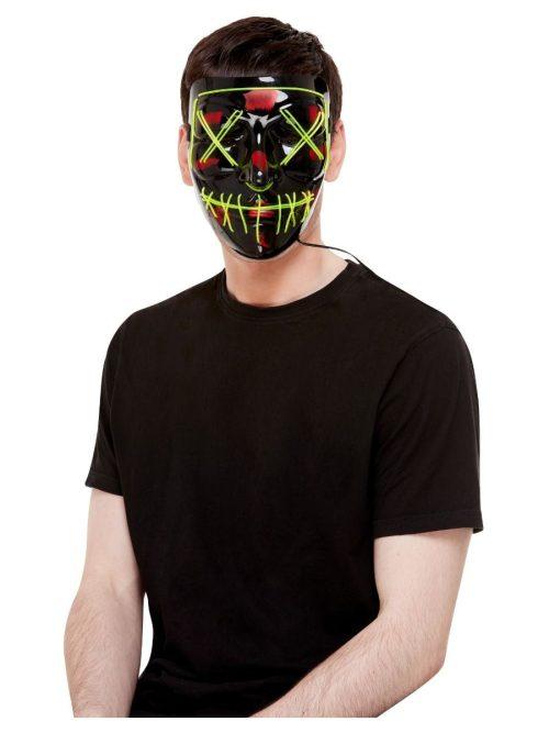 Stitch Face Mask, Green Neon Light Up
