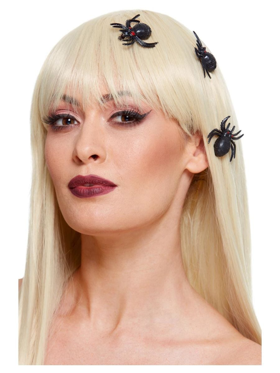 Spider Hair Clips, Black, 3pcs
