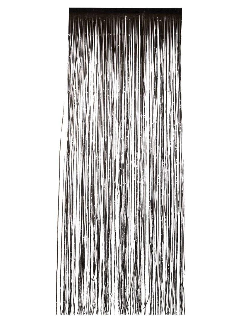Shimmer Curtain, Metallic Black