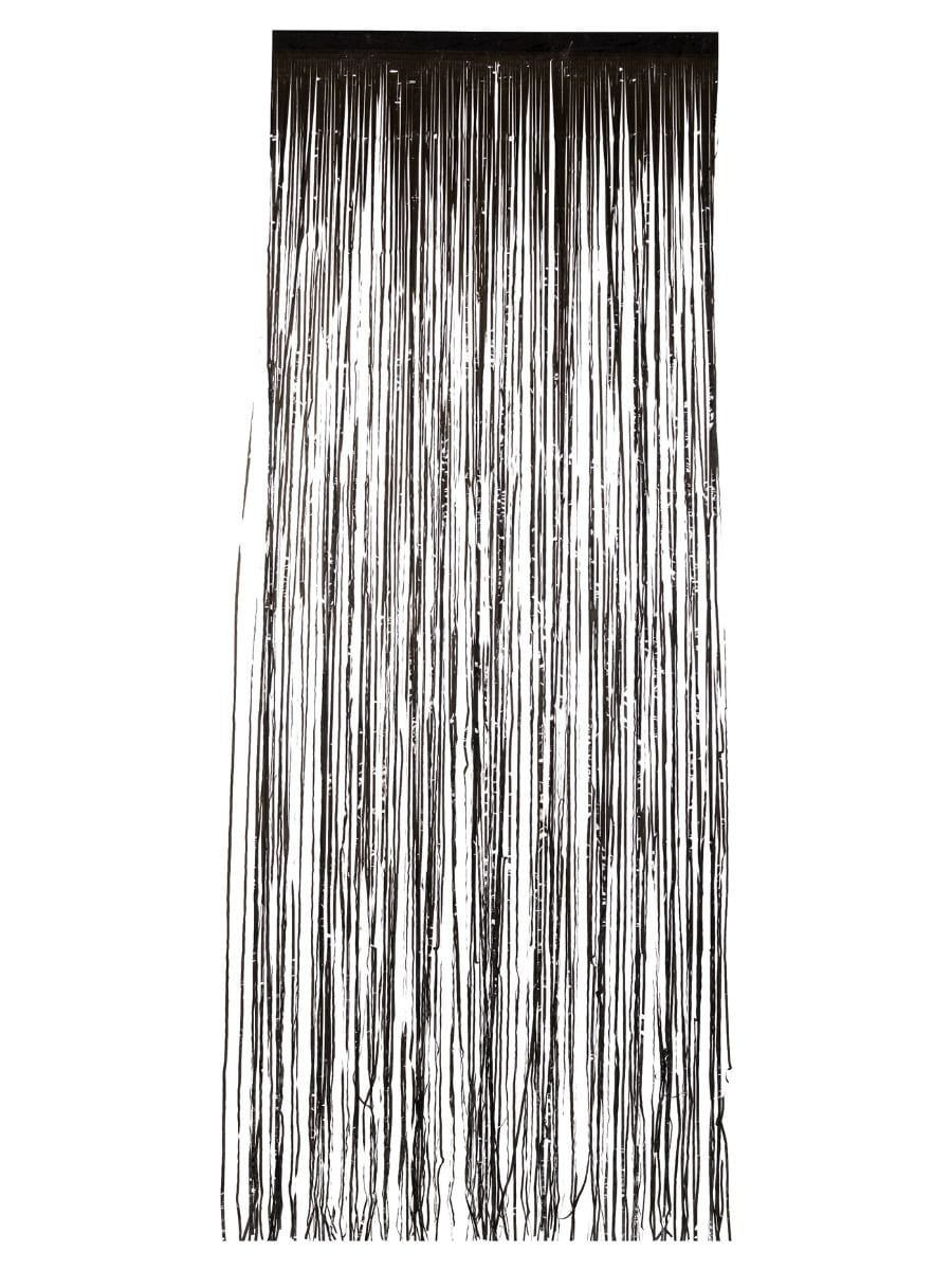 Shimmer Curtain, Metallic Black