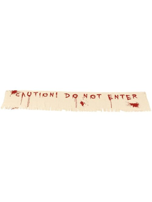 Caution Do Not Enter Bloody Banner Decoration